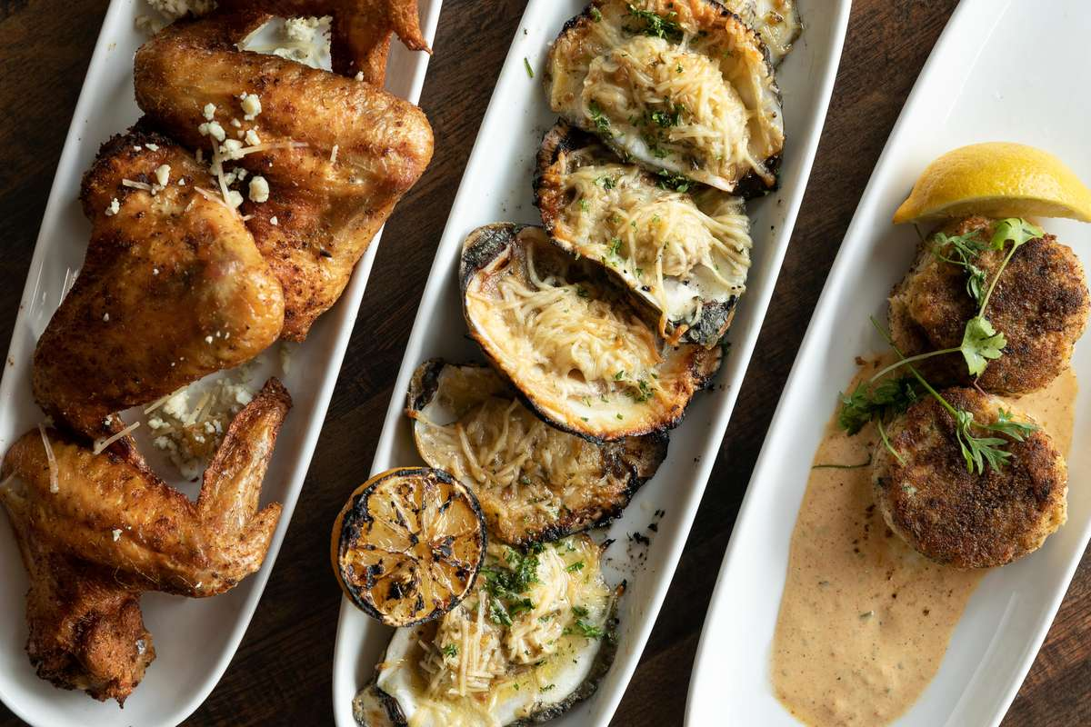 steakhouse wings, oysters