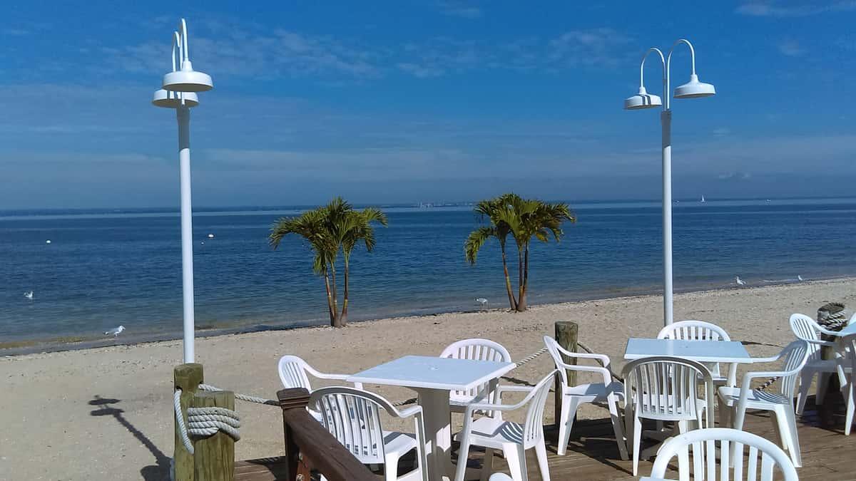 beachfront dining walls wharf