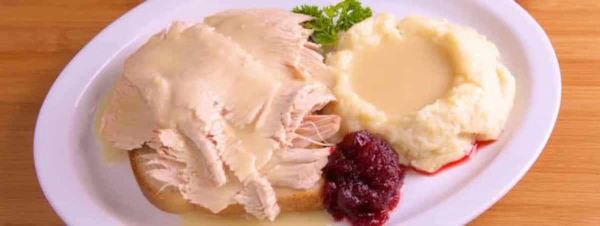 Open Face Turkey