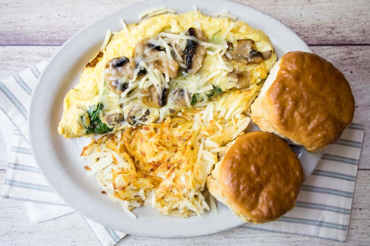 Spinach Mushroom Omelette*