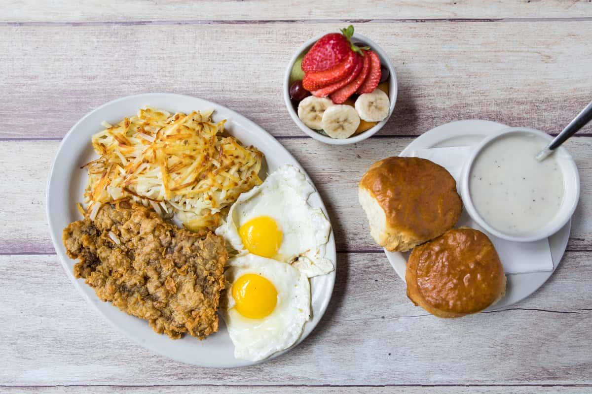 Chicken Fried Steak Breakfast*
