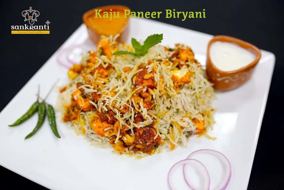 Kaju Paneer Biryani