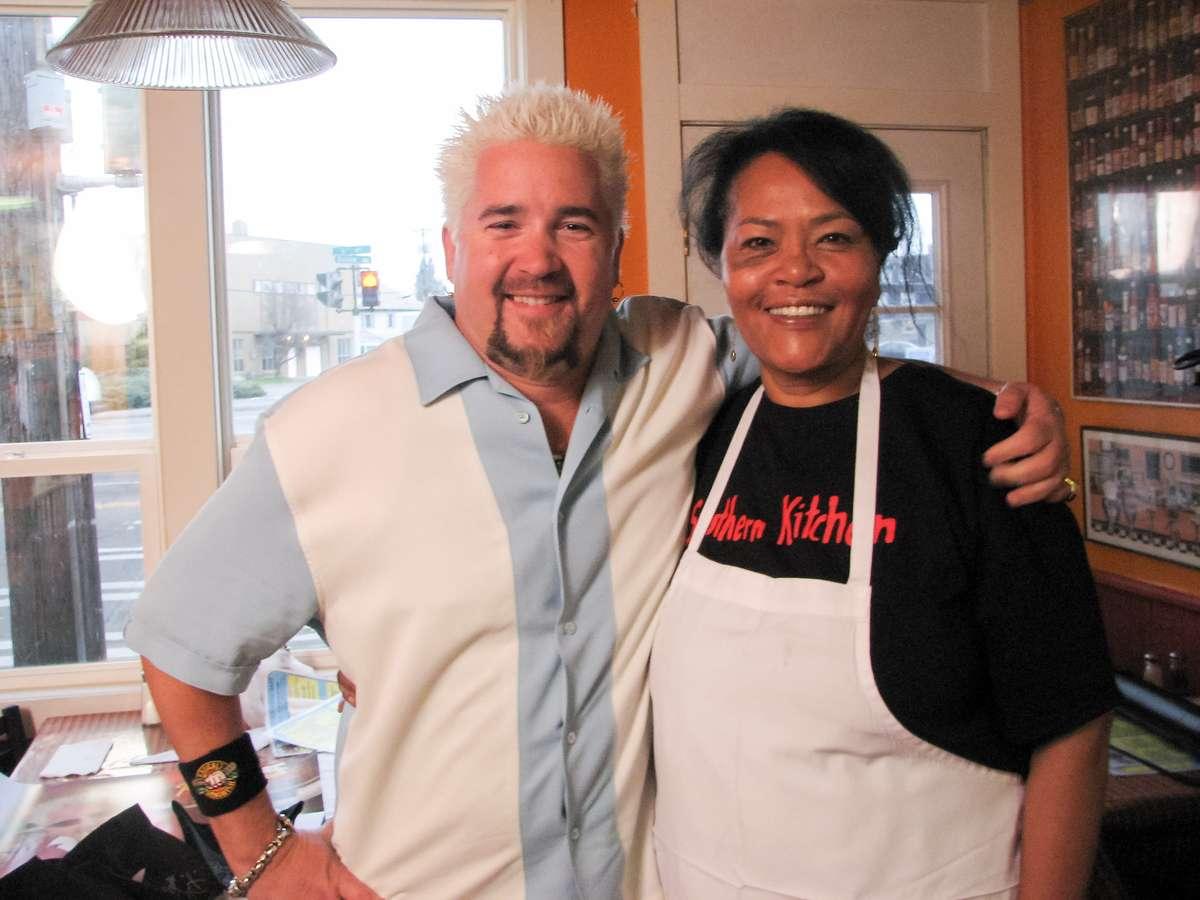 Gloria and Guy Fieri Smiling