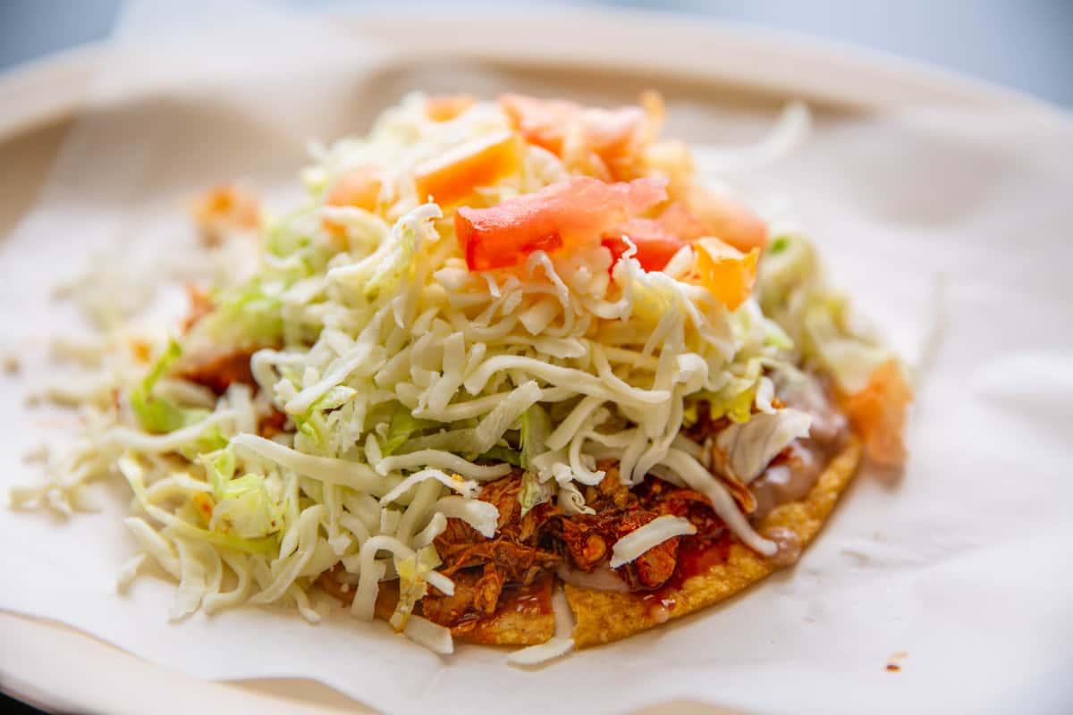 Mexican Sausage & Egg Tostada (Chorizo Y Huveo)