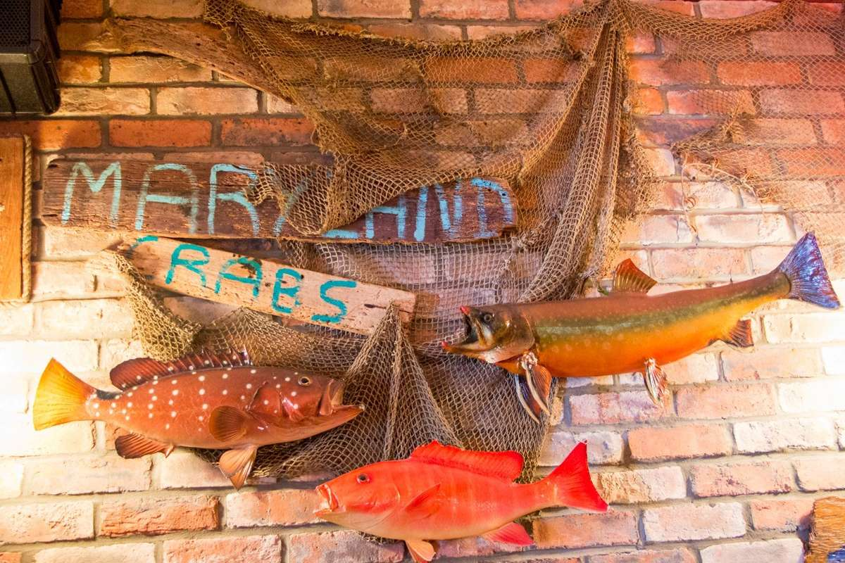 Obrien's Crabhouse interior wall