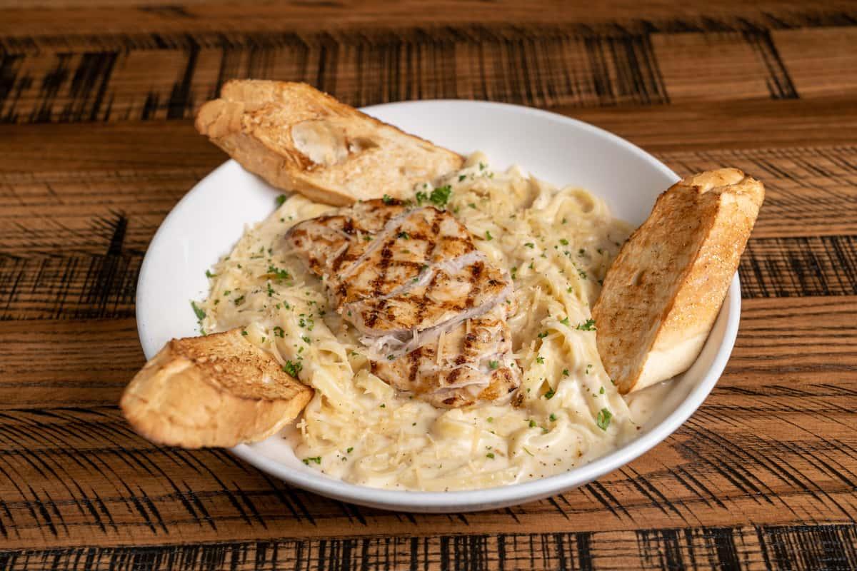 Fettucine Alfredo with Grilled Chicken