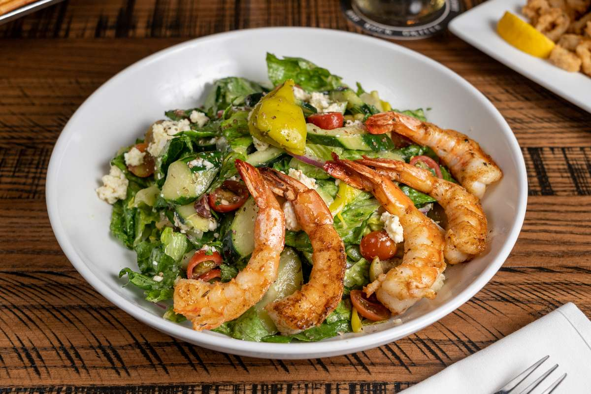 The Greek with Grilled Shrimp