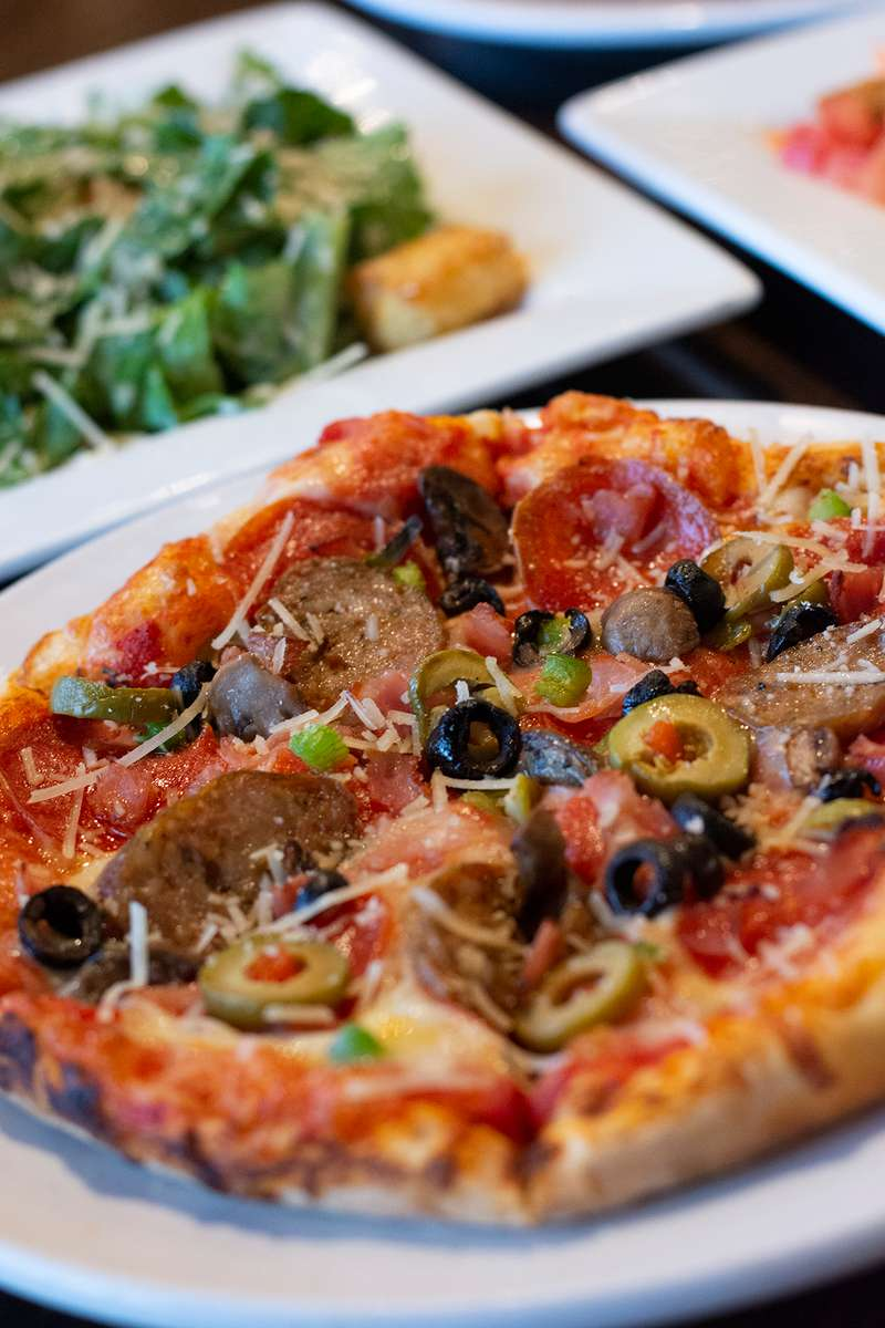"9"" Pizza & Side Salad"