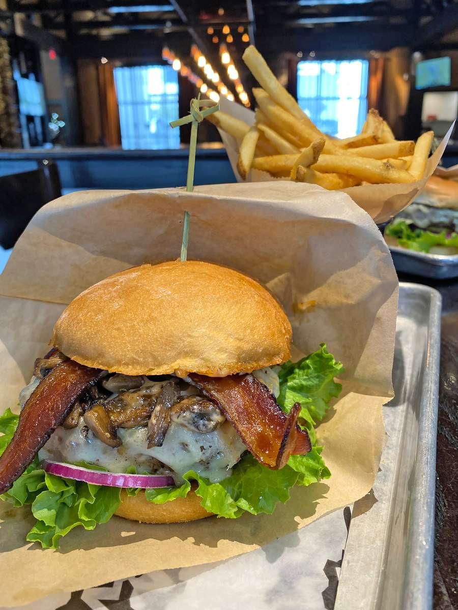 Mushroom, Swiss & Bacon Burger