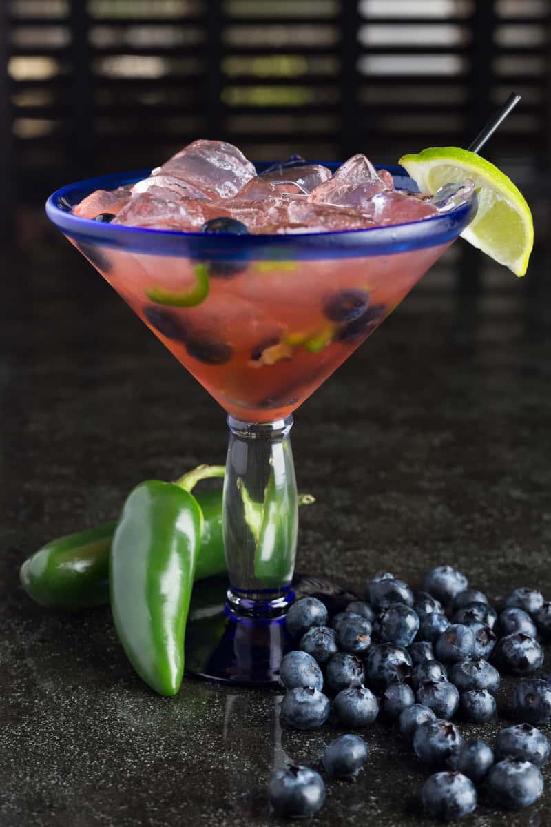 Blueberry Jalapeño Margarita