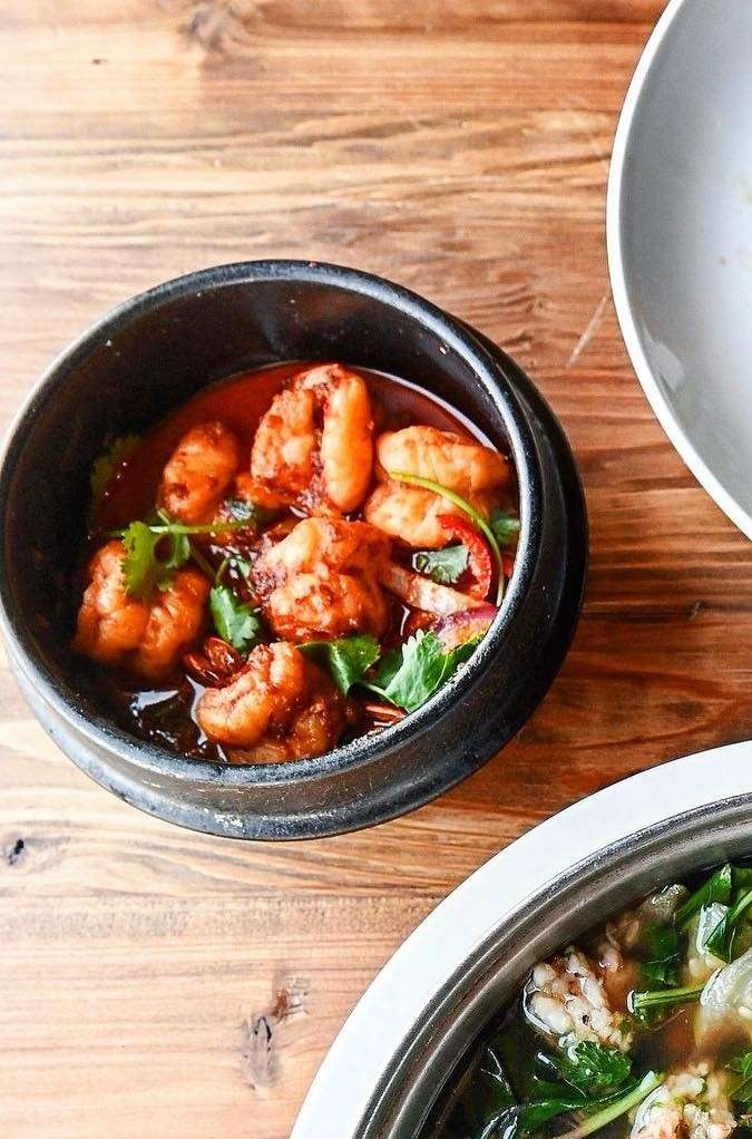 Caramelized Prawns With Tamarind Sauce