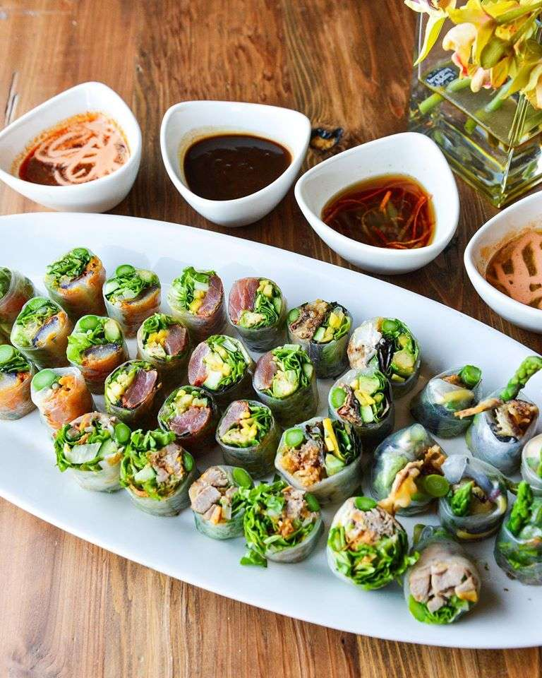 Chateau's Special Spring Roll Sampler (for a party of six to eight guests)