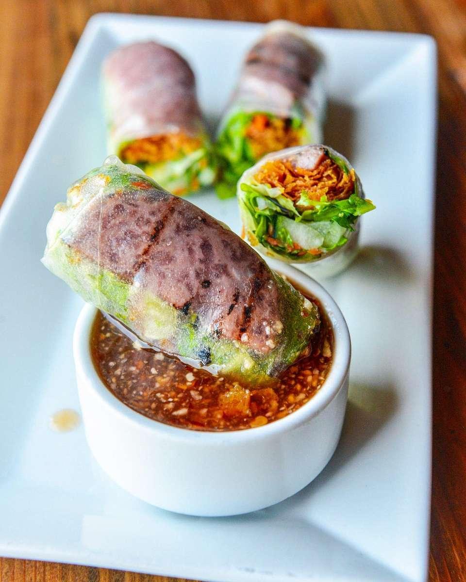 Vietnamese Cured Beef Spring Roll - Nem Chua Cuốn