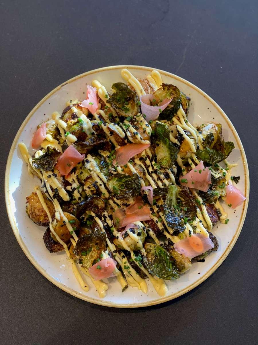 "Brussels Sprouts ""Okonomiyaki"""
