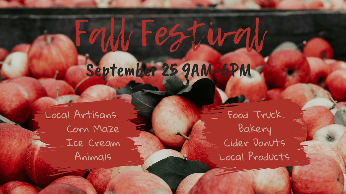 Fall Festival Flyer with Apple Background