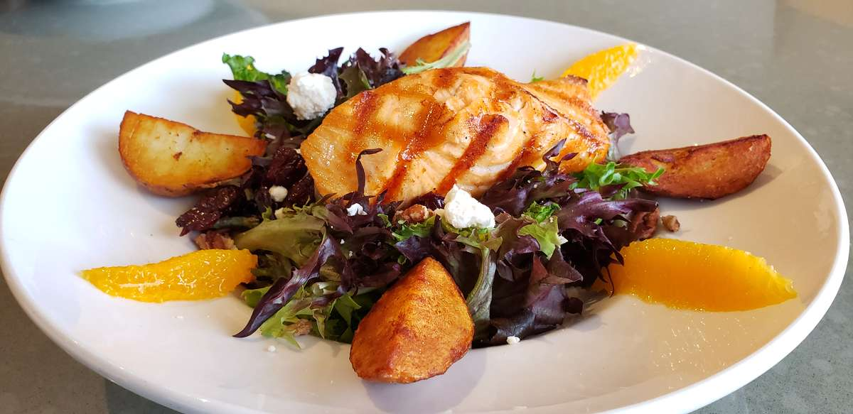 Organic Salmon and Citrus Salad