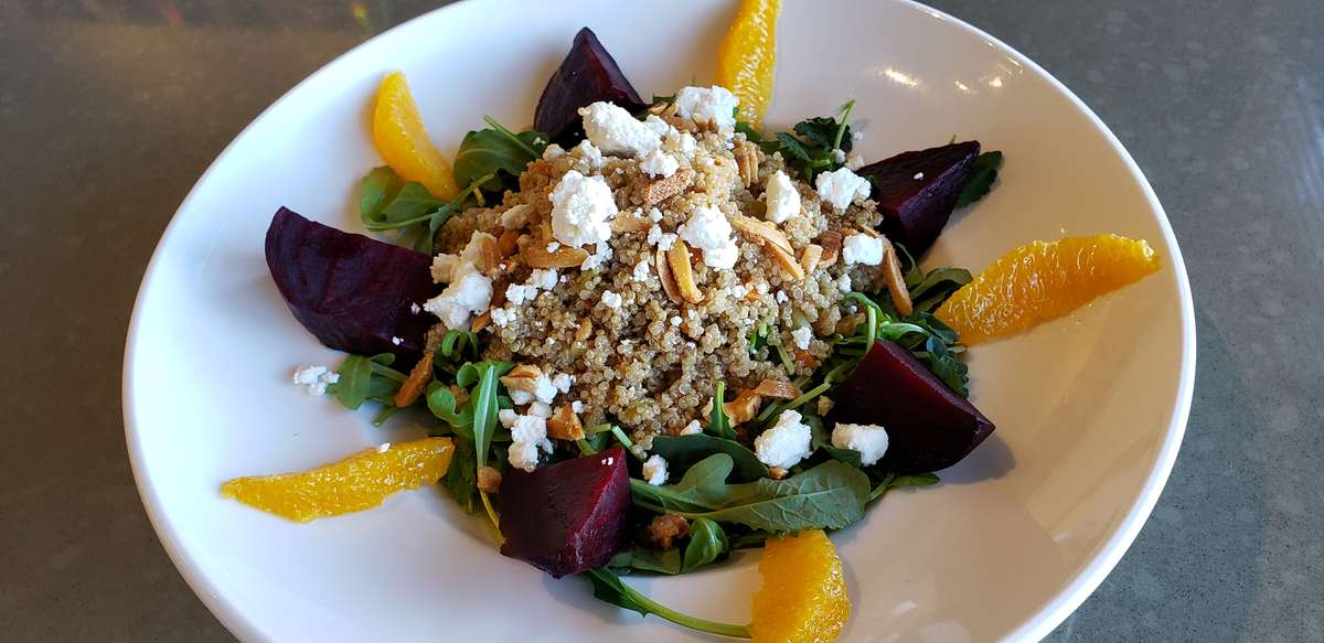 Chicken with Roasted Beet and Quinoa Salad