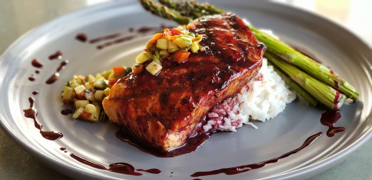 Blackberry Grilled Salmon