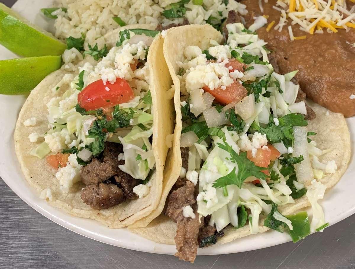 Carne Asada Tacos w/ Beans