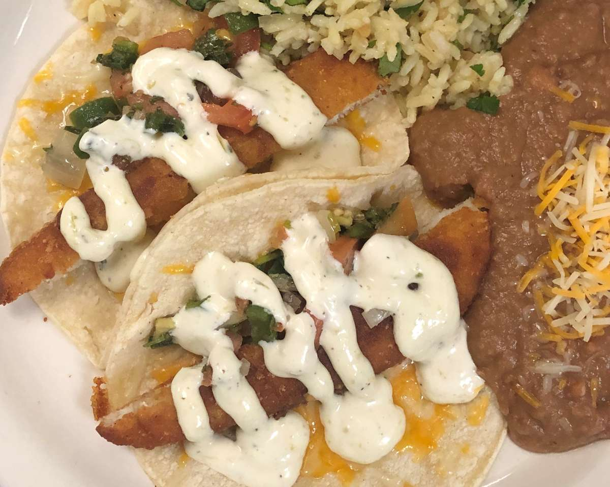 Fish Tacos W/ Beans