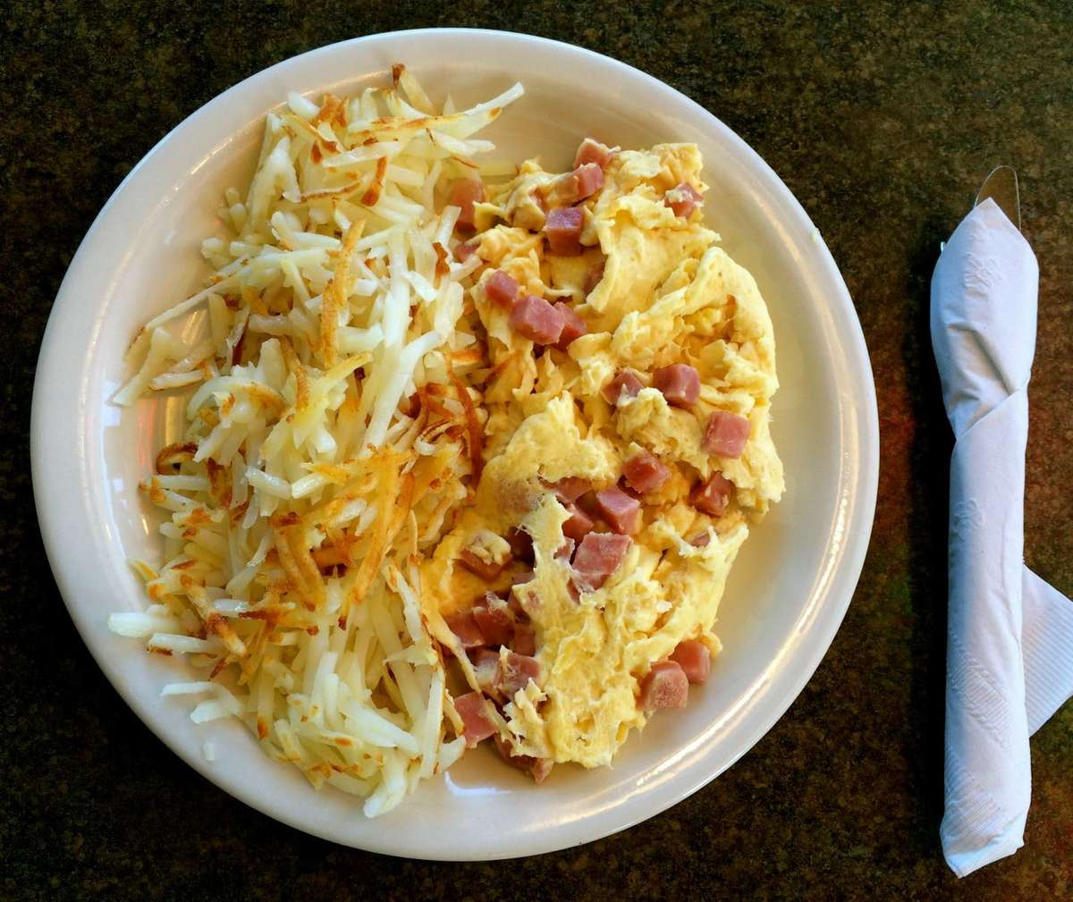 minced ham scramble