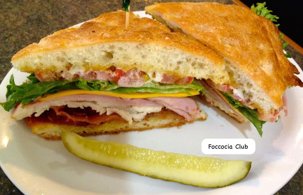 Foccacia Club Sandwich
