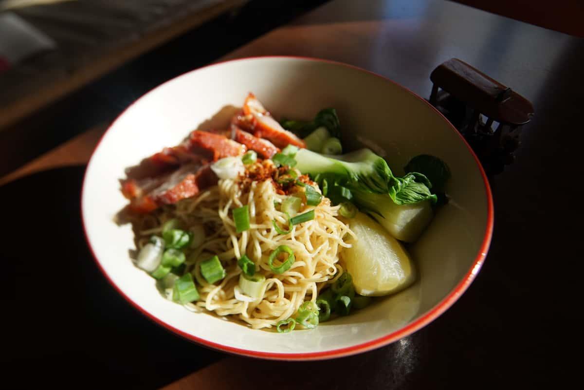 Roasted Pork Egg Noodle