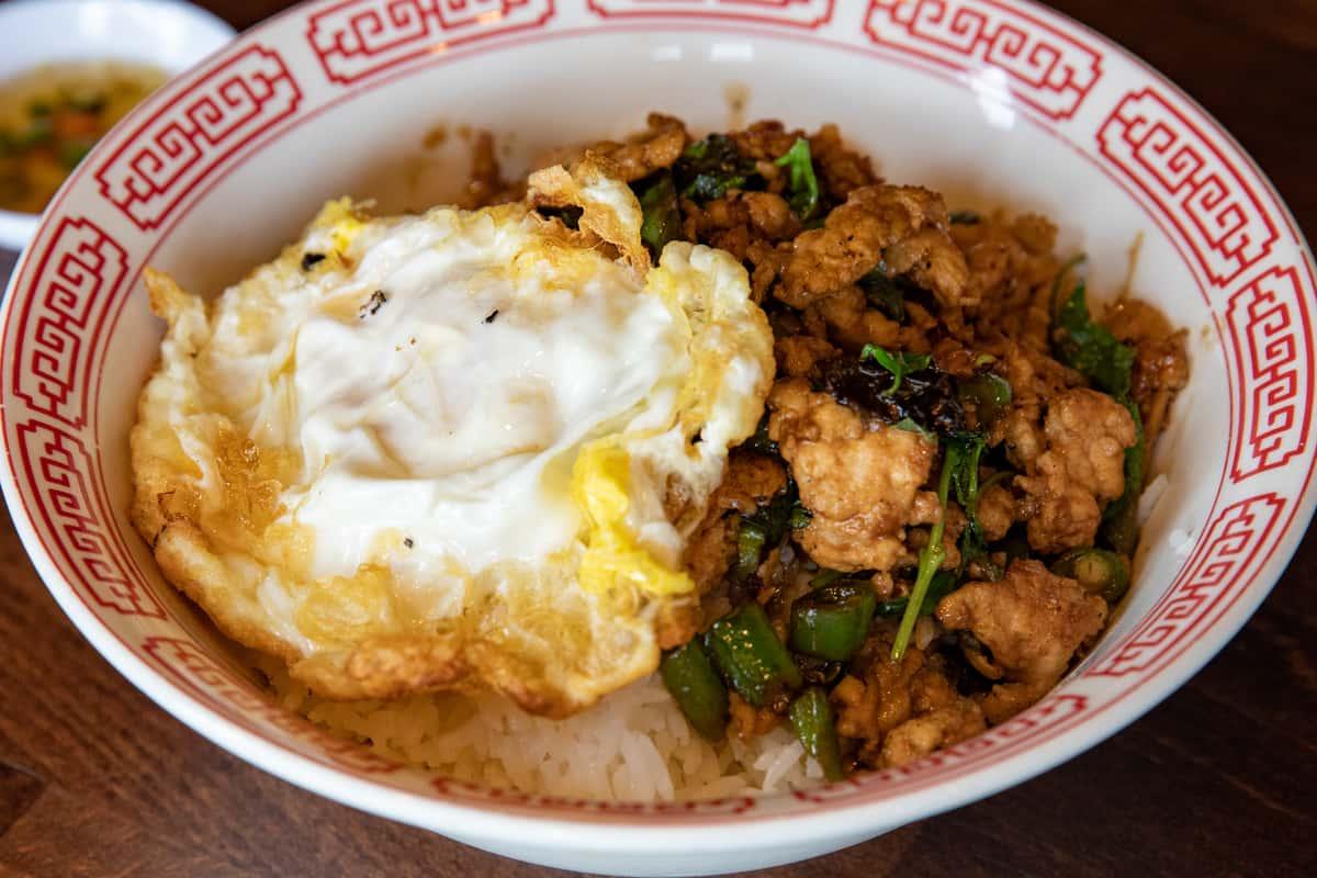 Holy Basil & Fried Egg on Rice
