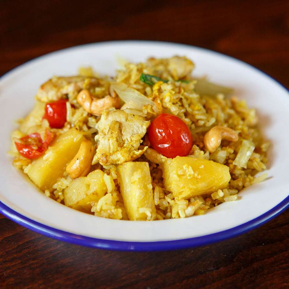 Pineapple Curry Fried Rice