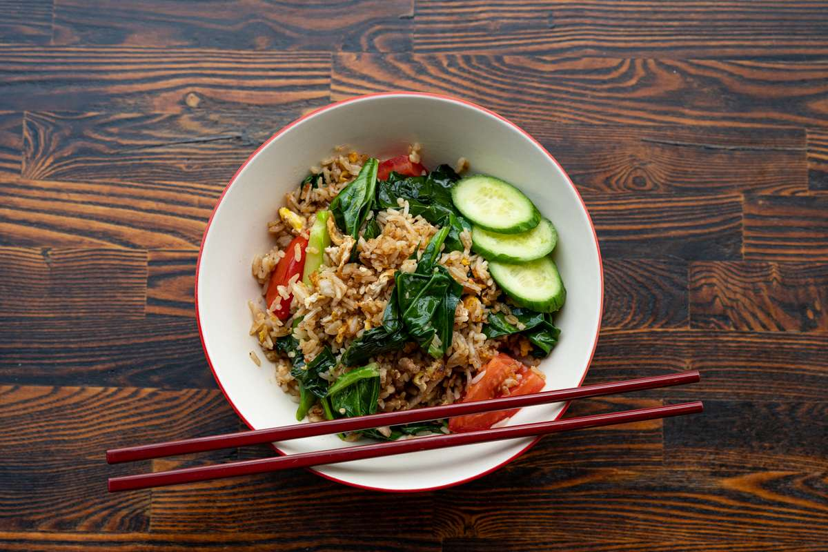 Spicy Chinese Broccoli Fried Rice