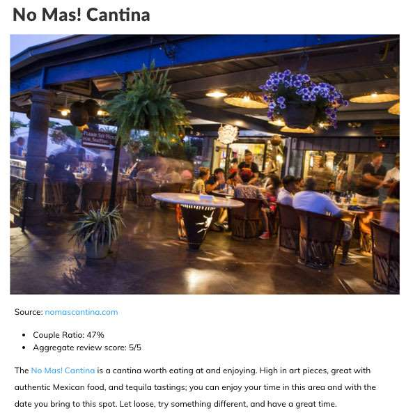 No Mas! - One of the Best Dating Spots in Atlanta