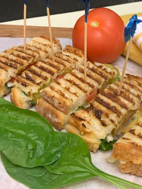 Mini Grilled Turkey Panini Sandwiches