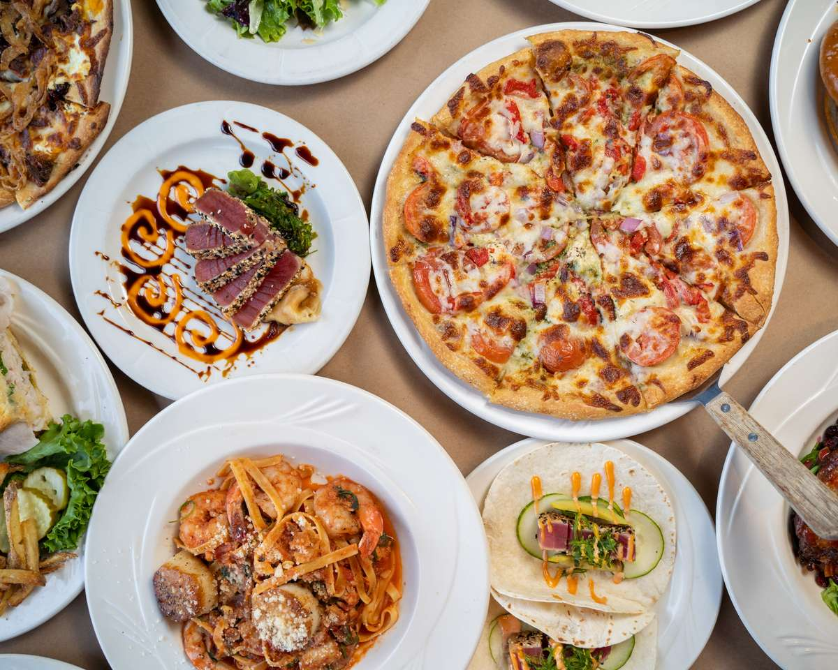 Assorted dishes at Bricco Akron