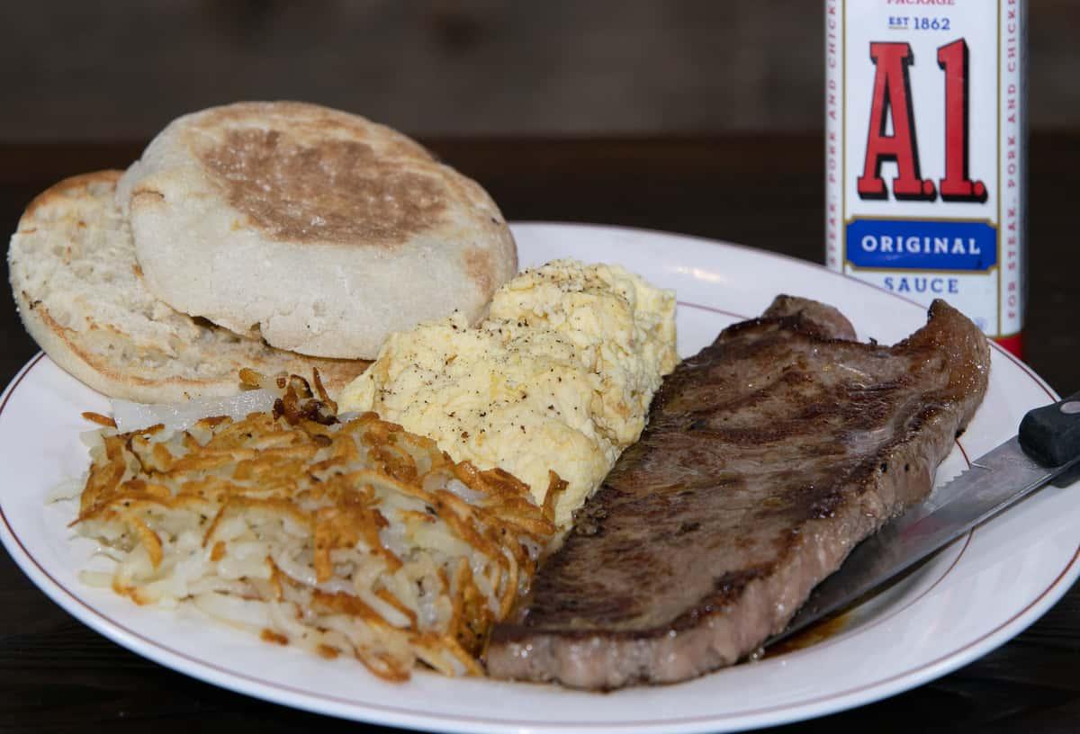 Strip Steak and Eggs