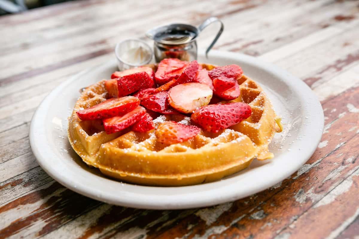 Strawberry Belgian Waffle