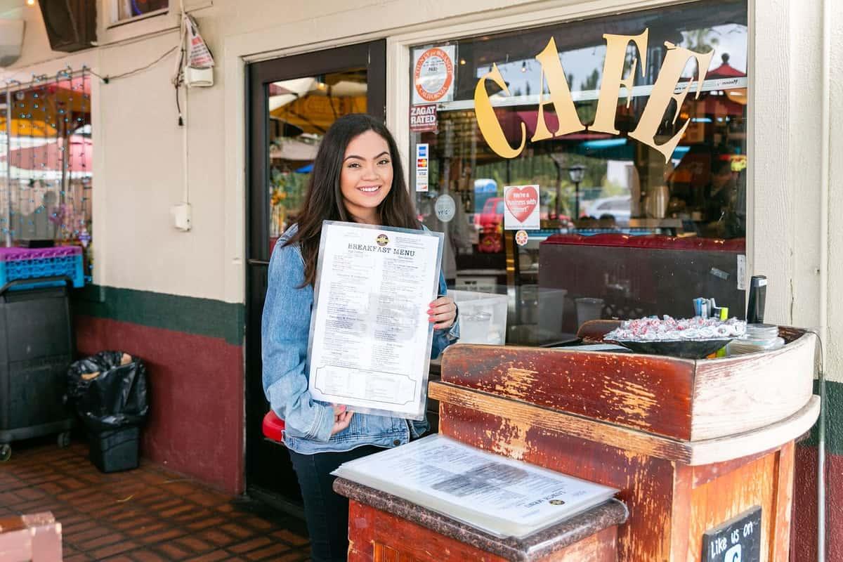 hostess with menu
