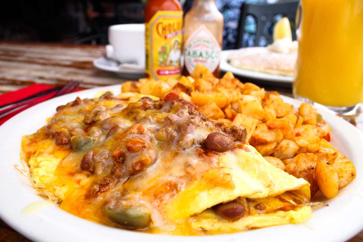 Turkey Chili Cheese Omelet