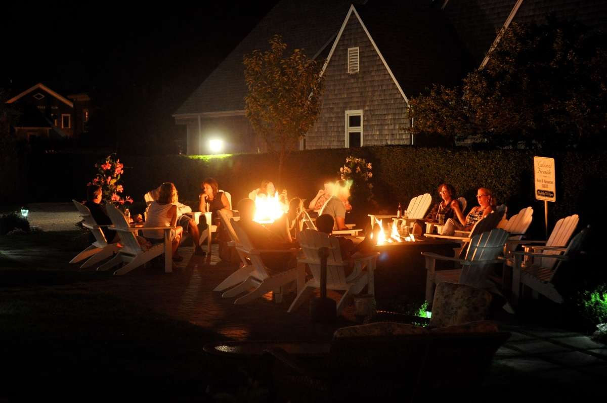 people around firepits