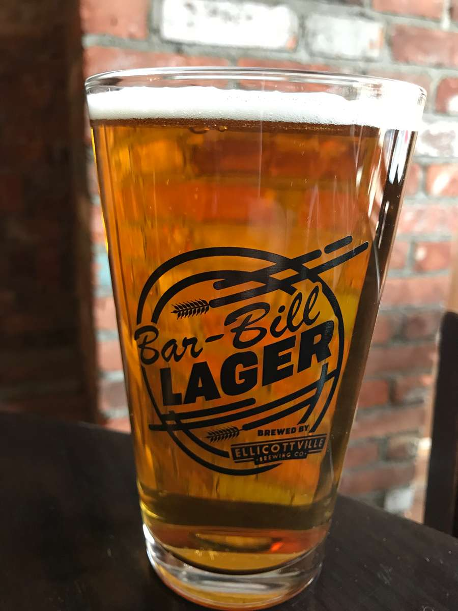 BAR-BILL HOUSE LAGER (brewed by EBC)