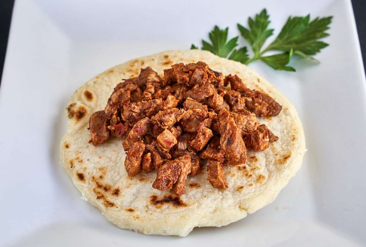 Arepas with grilled chicken