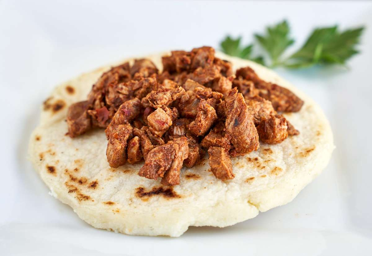 Arepas with grilled beef