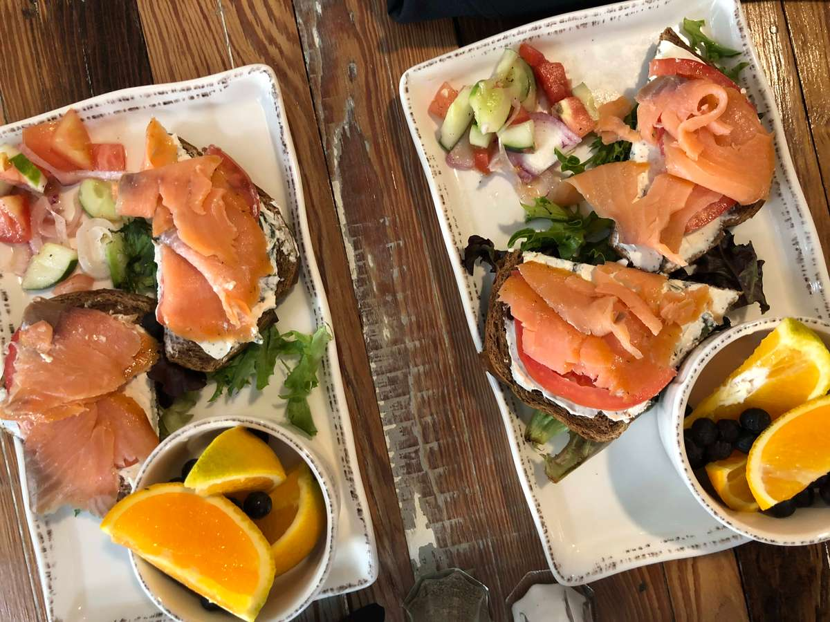smoked salmon trays