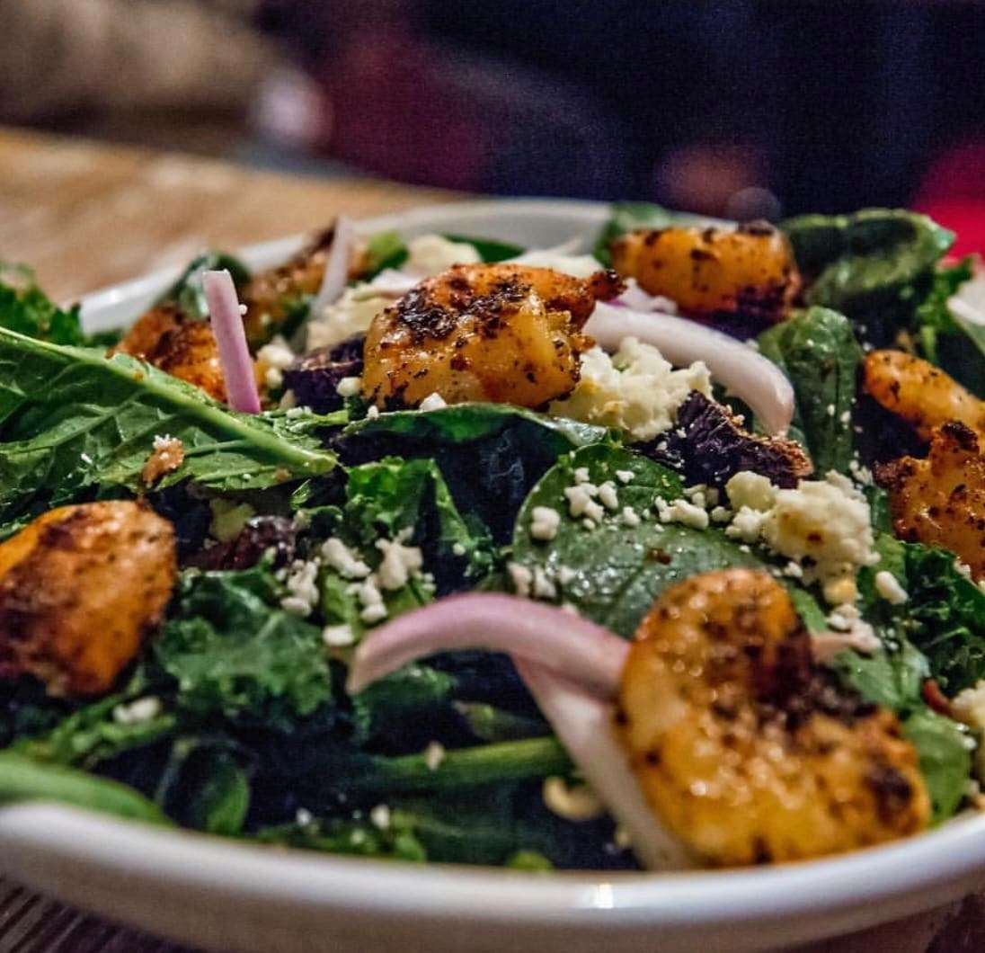 Shrimp Spinach & Kale Salad