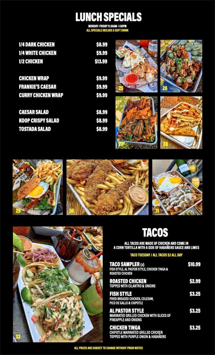 Lunch Specials & Tacos