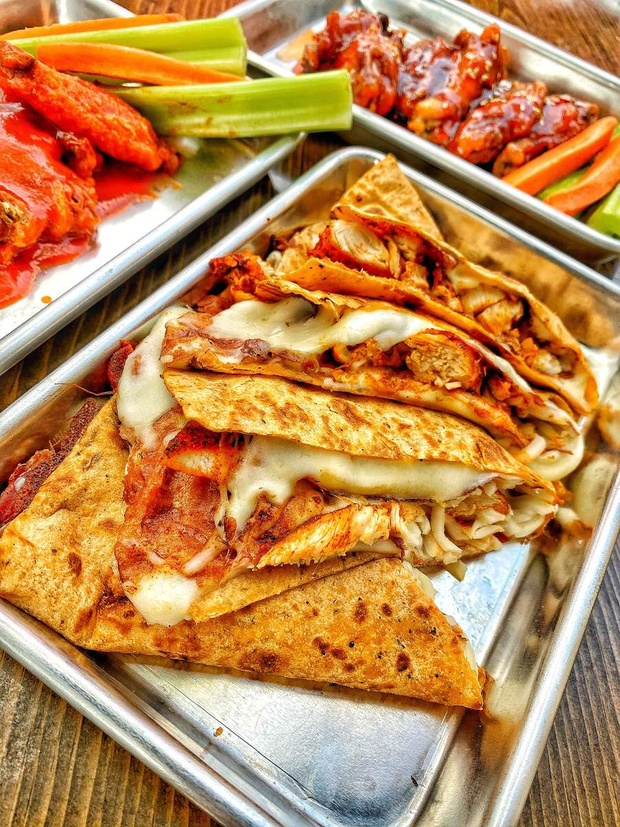 Cheese Quesadilla with Chicken