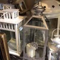 Lantern Centerpieces (Silver & White)