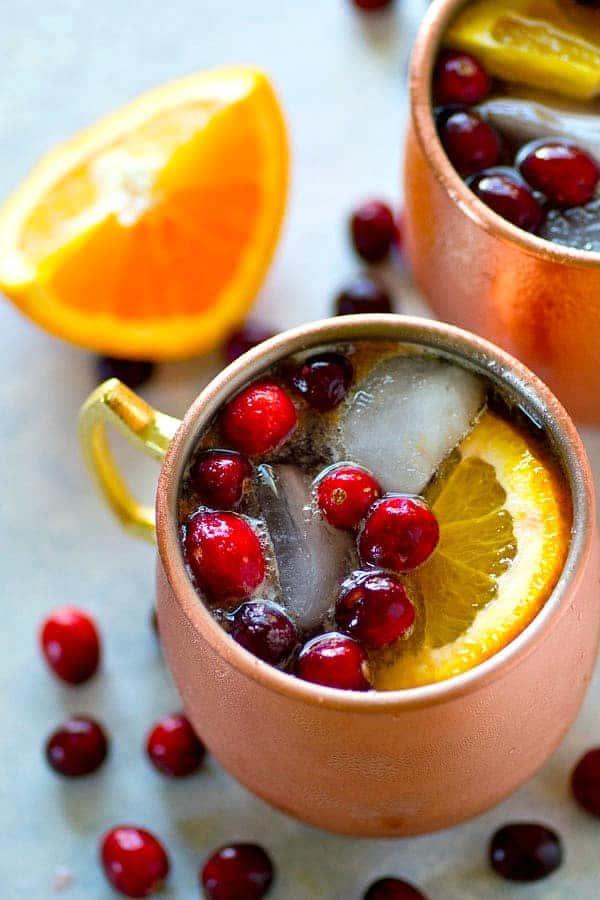 Orange Cranberry Mule