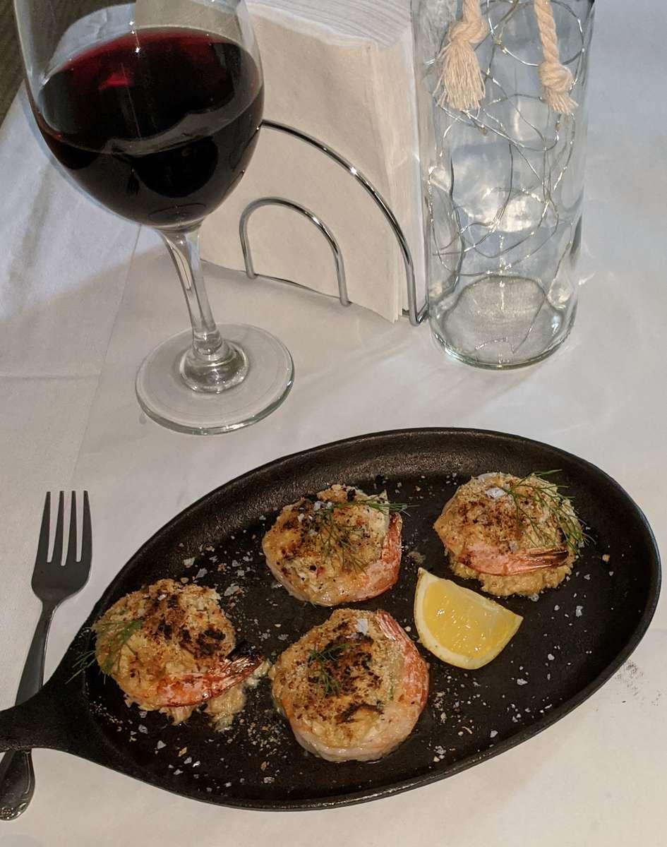 Broiled Shrimp Stuffed w/ Crab