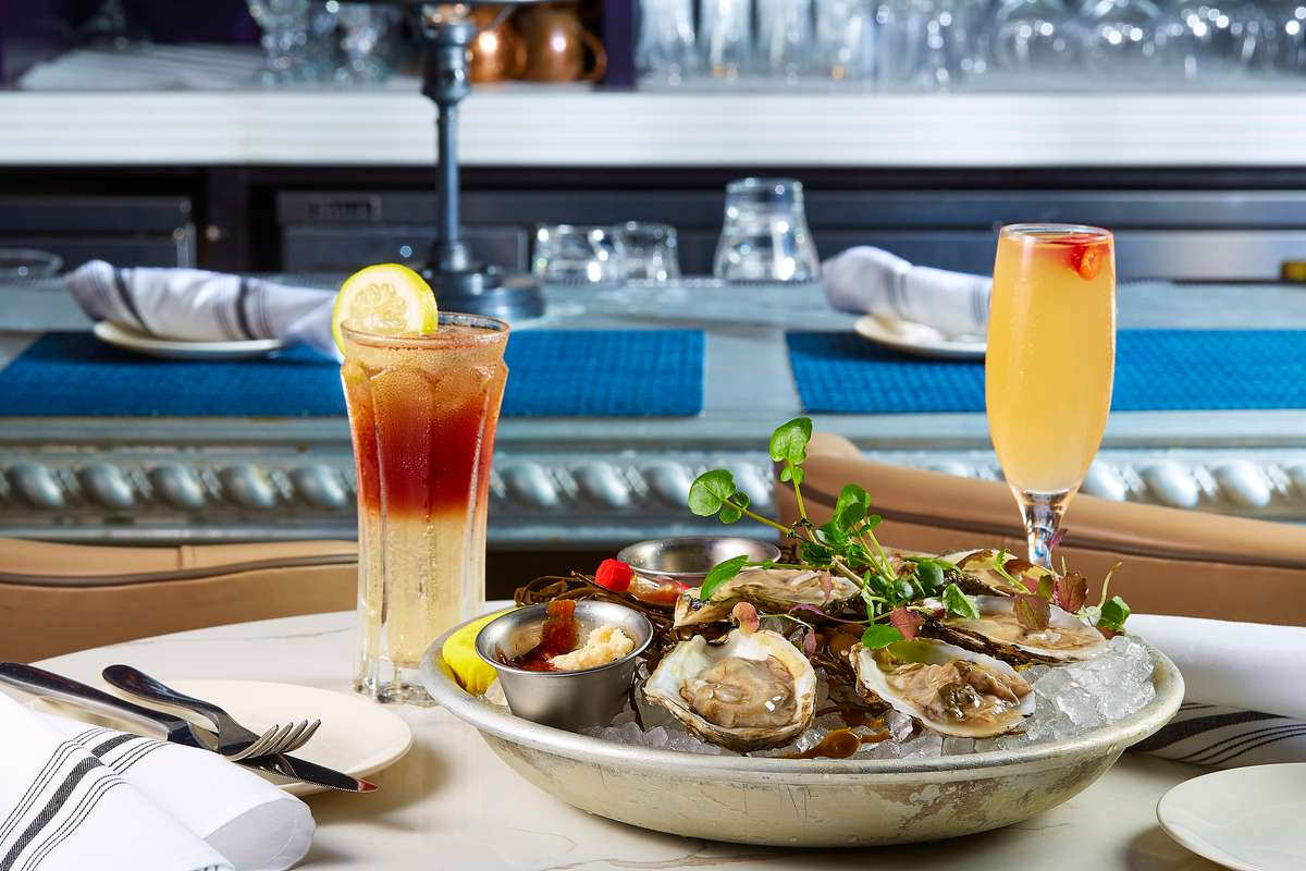 oysters and cocktails