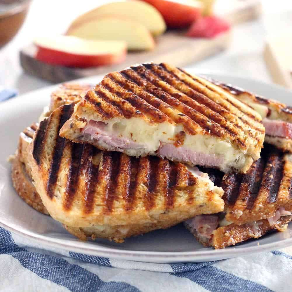 Ham or Turkey & Swiss Panini on Ciabatta Roll